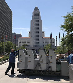SCMM working at Los Angeles City Hall